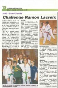 15-10-08 HEBDO HAUT-JURA - Article judo challenge Ramon Lacroix